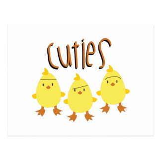 Chick Cuties Postcard