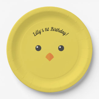 Chick Face Paper Plate