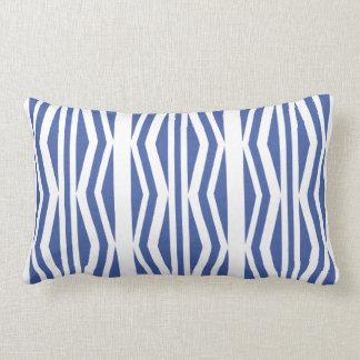 Chick Geometric Blue White Pattern Throw Cushions