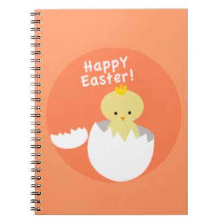 Chick Hatching Happy Easter Notebook