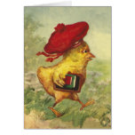 Chick In a Red Beret Goes Back to School Cards