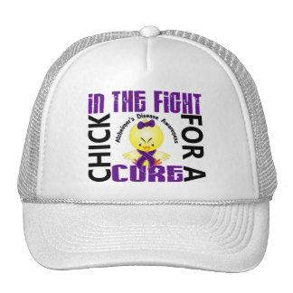 Chick In The Fight Alzheimer s Disease Trucker Hat