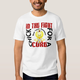 Chick In The Fight Bone Cancer Shirts