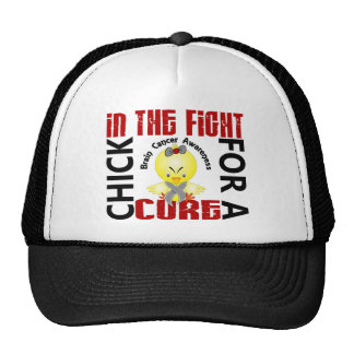 Chick In The Fight Brain Cancer Hats