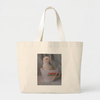 Chick in Vintage Teacup Canvas Bags