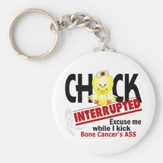 Chick Interrupted 2 Bone Cancer Basic Round Button Key Ring