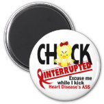 Chick Interrupted 2 Heart Disease 6 Cm Round Magnet