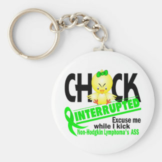 Chick Interrupted 2 Non-Hodgkin's Lymphoma Basic Round Button Key Ring