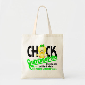 Chick Interrupted 2 Non-Hodgkin's Lymphoma Canvas Bags