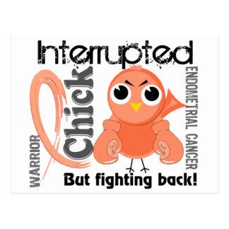 Chick Interrupted 3 Endometrial Cancer Postcard