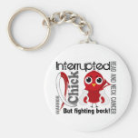 Chick Interrupted 3 Head and Neck Cancer Keychain