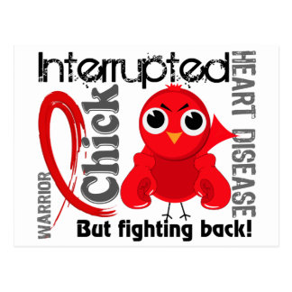 Chick Interrupted 3 Heart Disease Postcard