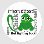 Chick Interrupted 3 Liver Cancer Stickers