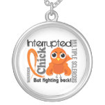 Chick Interrupted 3 Multiple Sclerosis MS Necklace