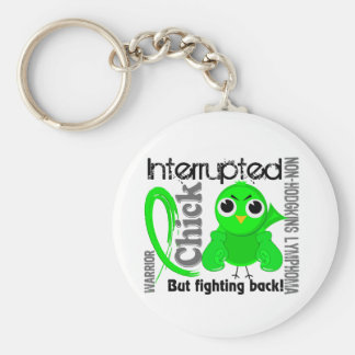Chick Interrupted 3 Non-Hodgkin's Lymphoma Basic Round Button Key Ring