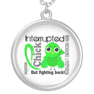 Chick Interrupted 3 Non-Hodgkin's Lymphoma Round Pendant Necklace