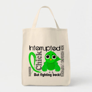 Chick Interrupted 3 Non-Hodgkin's Lymphoma Canvas Bags