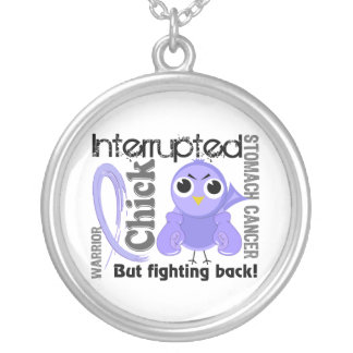 Chick Interrupted 3 Stomach Cancer Round Pendant Necklace