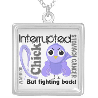 Chick Interrupted 3 Stomach Cancer Square Pendant Necklace