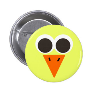 Chick Looking Pinback Button