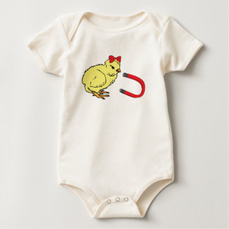 Chick Magnet funny lady's man Baby Bodysuit
