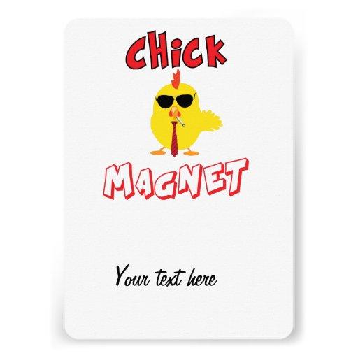 Chick magnet invitations