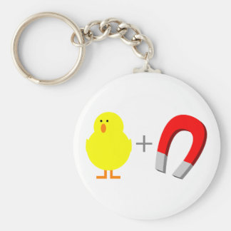 Chick Magnet Basic Round Button Key Ring