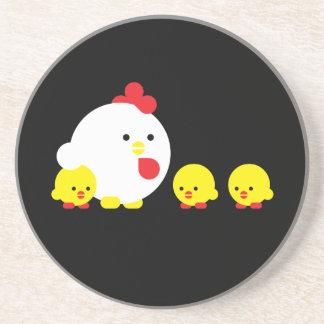 Chick n chicks beverage coaster