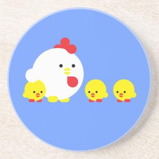 Chick n chicks beverage coasters