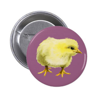 Chick Watercolor Painting 6 Cm Round Badge