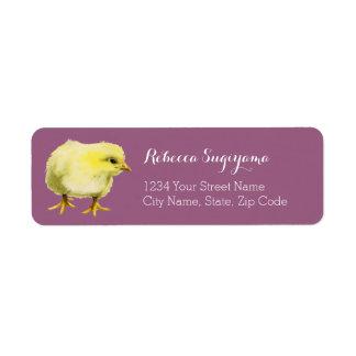 Chick Watercolor Painting Custom Return Address Label