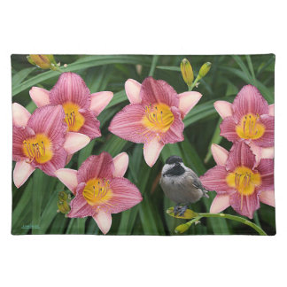 Chickadee and Flowers Placemat