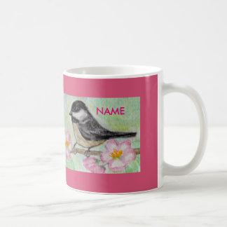 Chickadee Apple Blossom mug birthday Christmas Basic White Mug