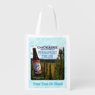 Chickadee Birch Beer Reusable Grocery Bag