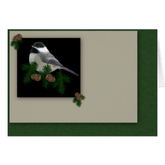Chickadee Christmas Card (Large Print)