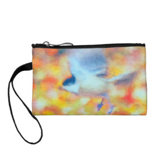 Chickadee in Flight Coin Purse