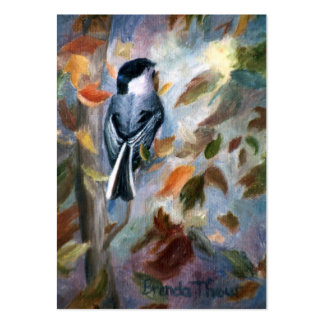 Chickadee In the Fall Art Card Pack Of Chubby Business Cards