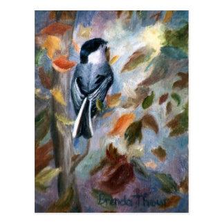 Chickadee In the Fall Postcard