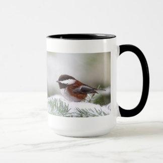 Chickadee in the Snow Mug