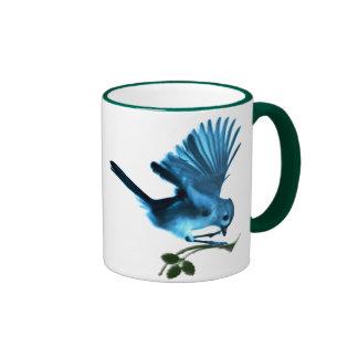 chickadee on twig coffee mug