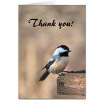 Chickadee Thank You Greeting Card