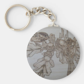 Chickadees Afternoon Brunch Keychain