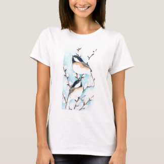 Chickadees and pussy willow T-Shirt
