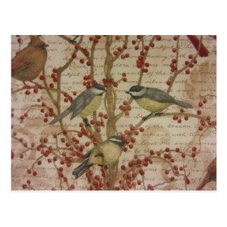 Chickadees Postcard