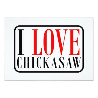 Chickasaw, Alabama City Design 13 Cm X 18 Cm Invitation Card