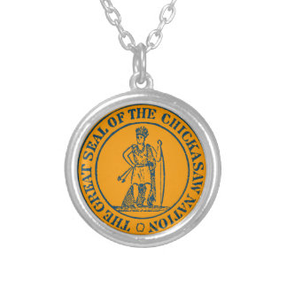 Chickasaw Seal Silver Plated Necklace