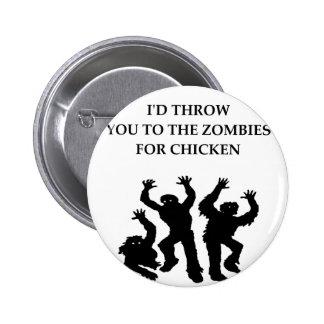 chicken 6 cm round badge
