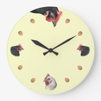 Chicken and egg large clock