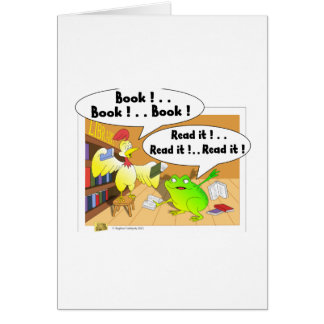 Chicken and frog card
