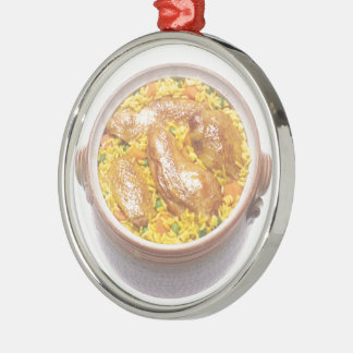 Chicken and Rice Christmas Ornament